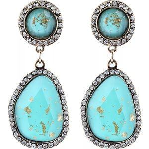 Jewelry - Blue Crystal Rhinestone Silver Plated